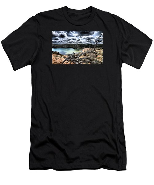 Dead Nature Under Stormy Light In Mediterranean Beach Men's T-Shirt (Athletic Fit)