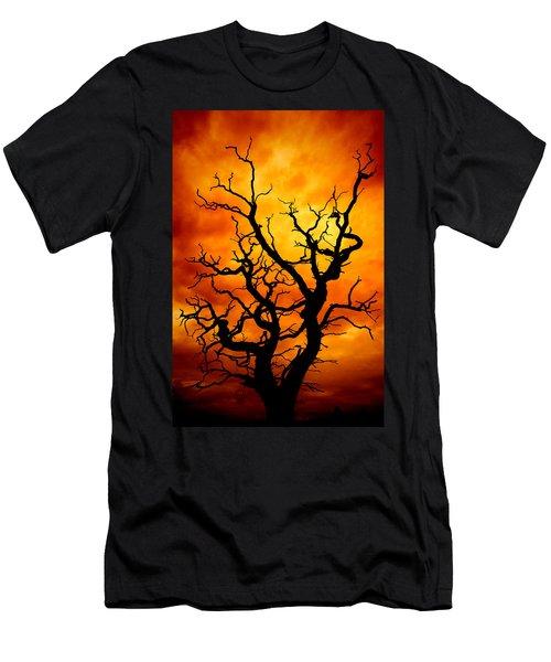 Dead Tree Men's T-Shirt (Slim Fit) by Meirion Matthias