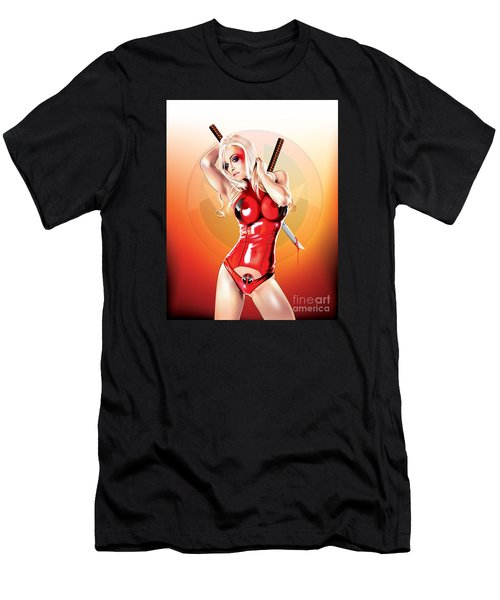 Deadpool With Jen Men's T-Shirt (Athletic Fit)