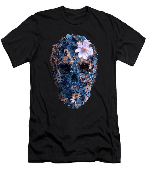 Skull 9 T-shirt Men's T-Shirt (Slim Fit) by Herb Strobino