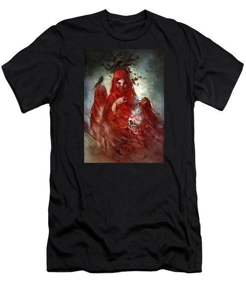 Men's T-Shirt (Slim Fit) featuring the digital art Death by Te Hu