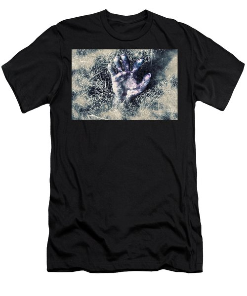 Decaying Zombie Hand Emerging From Ground Men's T-Shirt (Athletic Fit)