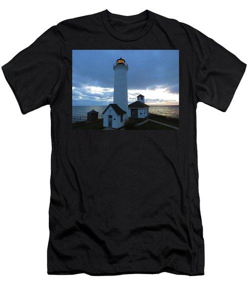 December Light, Tibbetts Point  Men's T-Shirt (Athletic Fit)