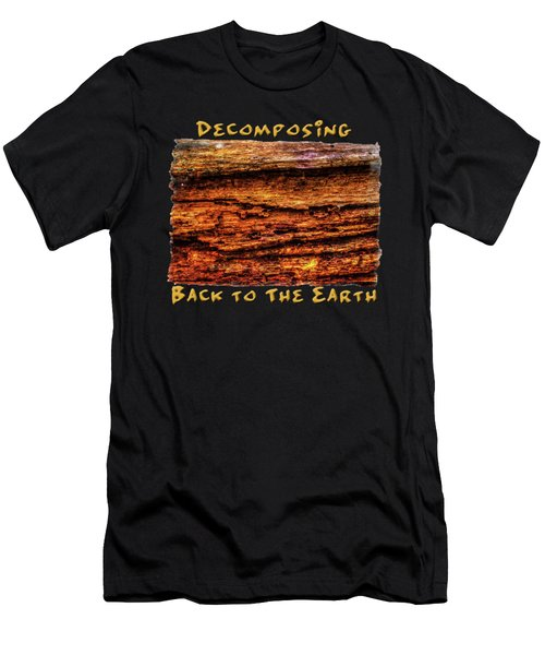Decomposing Fallen Tree Trunk Detail Men's T-Shirt (Athletic Fit)
