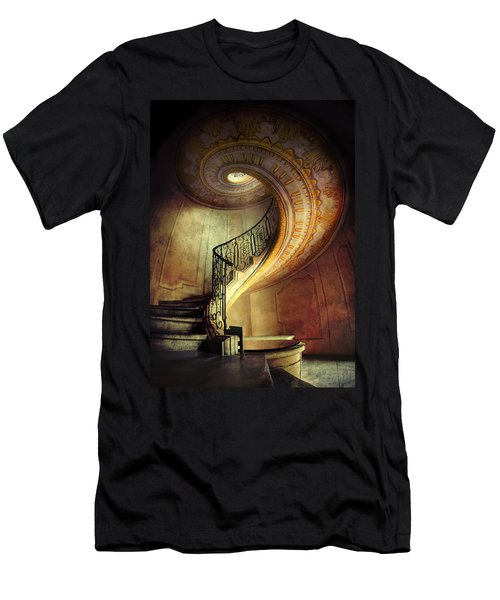 Men's T-Shirt (Athletic Fit) featuring the photograph Decorated Spiral Staircase  by Jaroslaw Blaminsky
