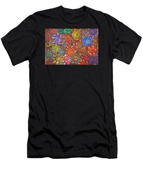 Decorative Flowers Men's T-Shirt (Athletic Fit)