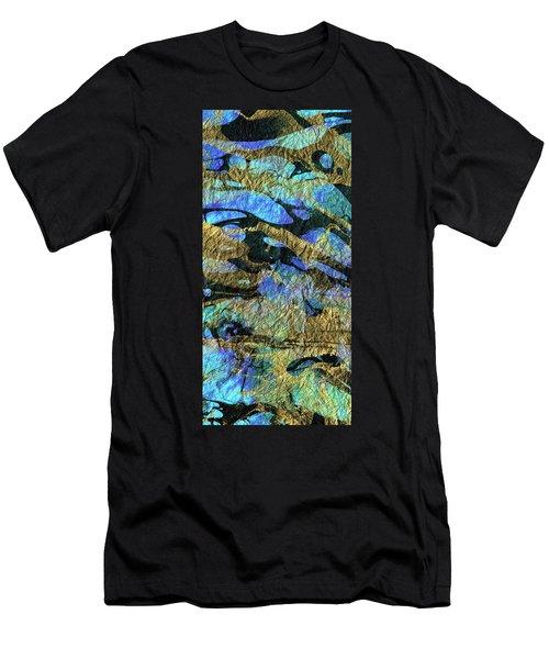 Deep Blue Abstract Art - Deeper Visions 1 - Sharon Cummings Men's T-Shirt (Athletic Fit)
