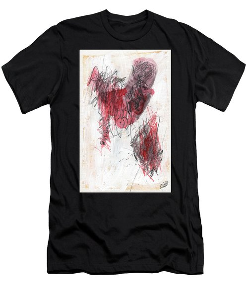 Men's T-Shirt (Athletic Fit) featuring the painting Deep Meat by Rick Baldwin