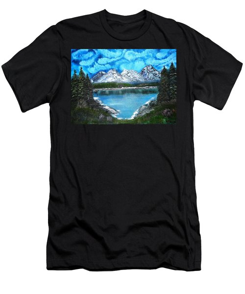 Deep Mountain Lake Men's T-Shirt (Athletic Fit)