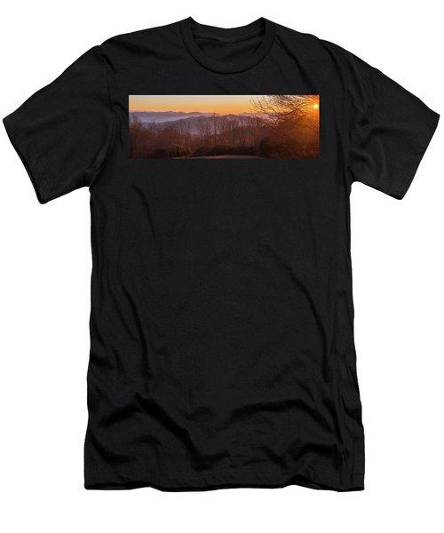 Deep Orange Sunrise Men's T-Shirt (Athletic Fit)