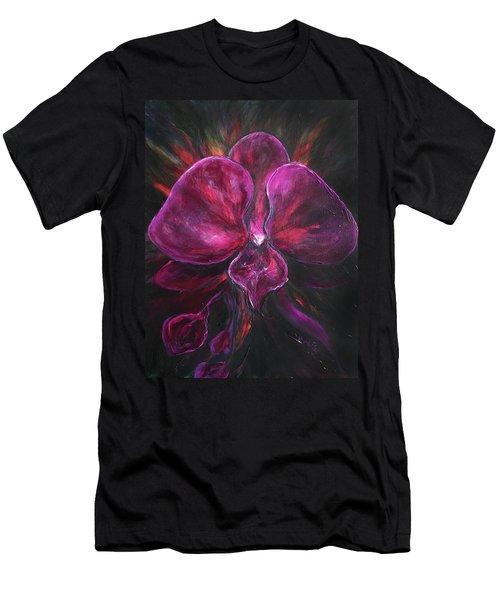 Deep Purple Orchid Men's T-Shirt (Athletic Fit)