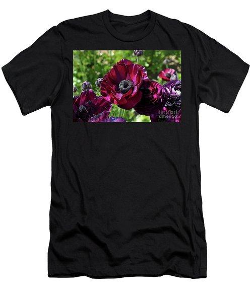 Deep Ranunculus Men's T-Shirt (Athletic Fit)