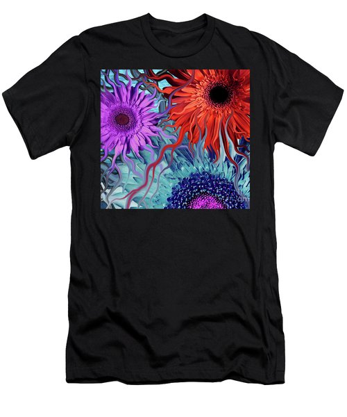 Deep Water Daisy Dance Men's T-Shirt (Athletic Fit)
