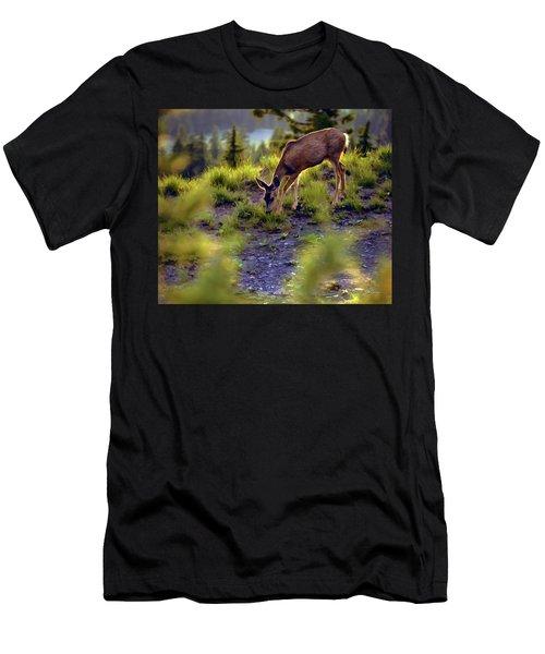 Deer At Crater Lake, Oregon Men's T-Shirt (Athletic Fit)