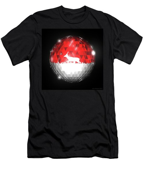 Deer Bauble - Frame 10 Men's T-Shirt (Athletic Fit)