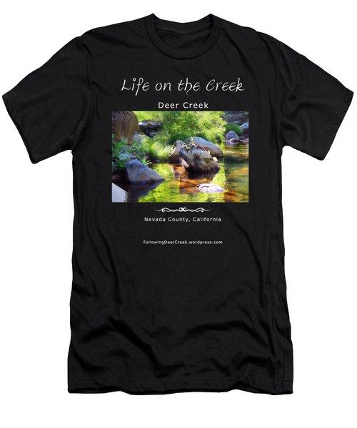 Deer Creek Ferns - White Text Men's T-Shirt (Athletic Fit)