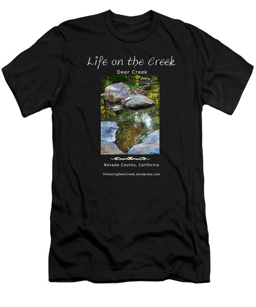 Deer Creek Point - White Text Men's T-Shirt (Athletic Fit)