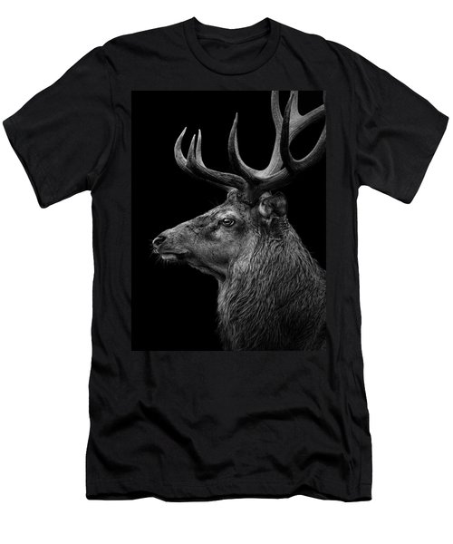 Deer In Black And White Men's T-Shirt (Athletic Fit)