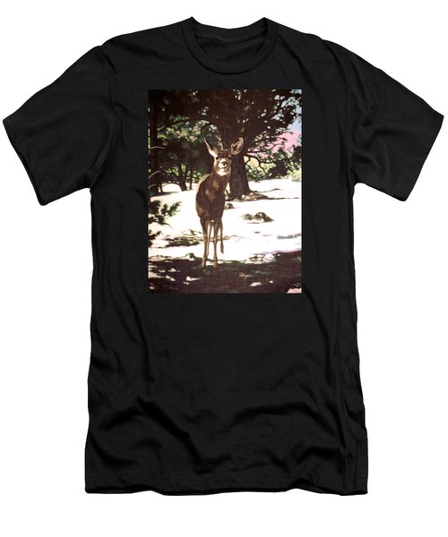 Deer In Snow Men's T-Shirt (Athletic Fit)