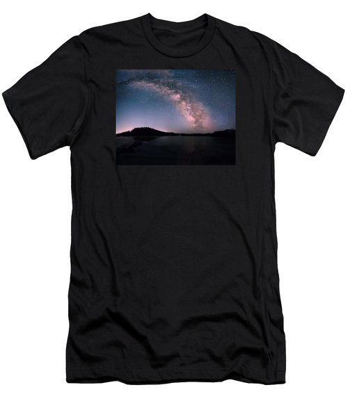 Deerfield Lake Milky Way Men's T-Shirt (Athletic Fit)