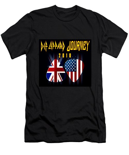 Def Leppard And Journey Tour Men's T-Shirt (Athletic Fit)