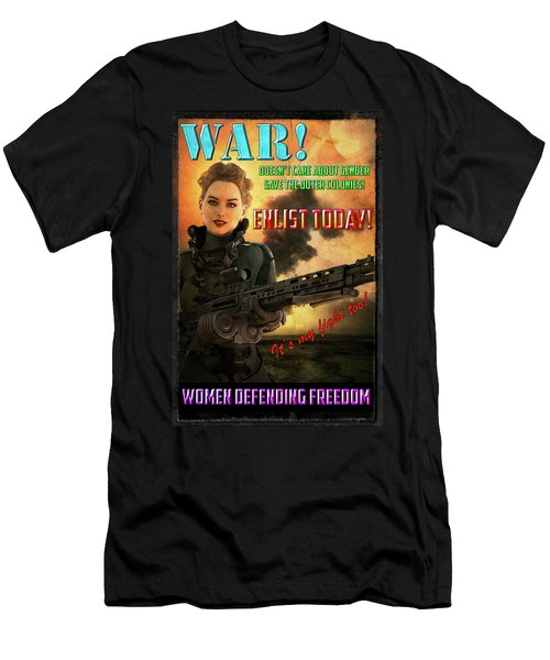 Defending Freedom Men's T-Shirt (Athletic Fit)
