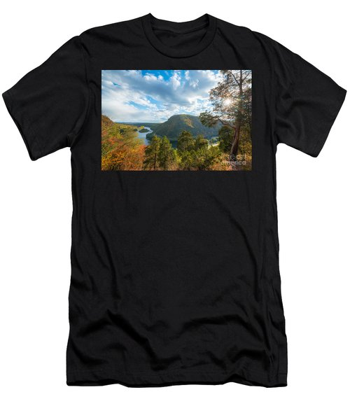 Delaware Water Gap In Autumn Men's T-Shirt (Athletic Fit)