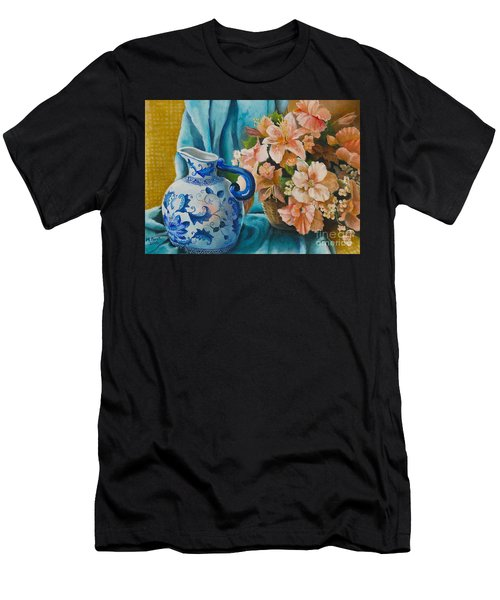 Delft Pitcher With Flowers Men's T-Shirt (Athletic Fit)