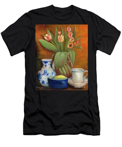 Delft Vase And Mini Tulips Men's T-Shirt (Athletic Fit)