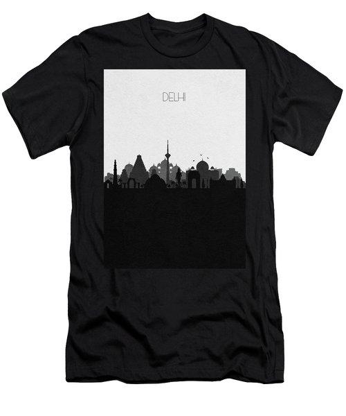 Delhi Cityscape Art Men's T-Shirt (Athletic Fit)