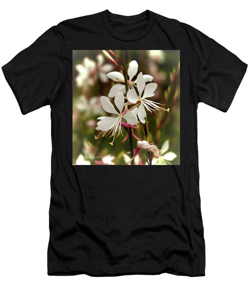 Delicate Gaura Flowers Men's T-Shirt (Athletic Fit)