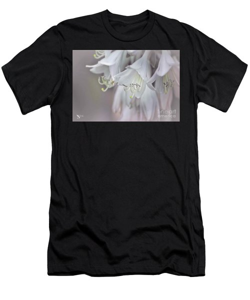 Delicate White Flowers Men's T-Shirt (Athletic Fit)