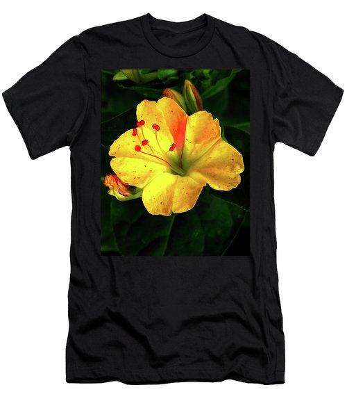 Delicate Yellow Flower Men's T-Shirt (Athletic Fit)