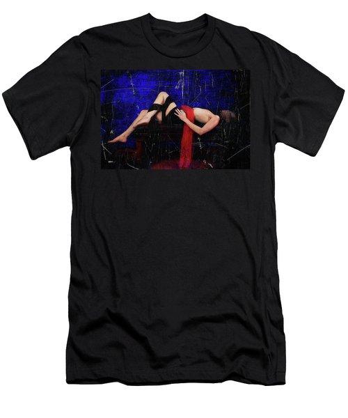 Delicious Vampire Sacrafice In Blue Men's T-Shirt (Athletic Fit)