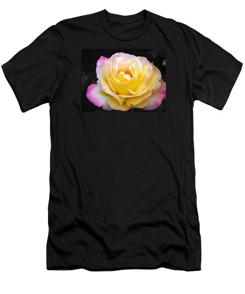Delightful Blushing Rose  Men's T-Shirt (Athletic Fit)
