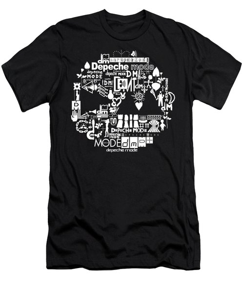 Delta Machine Logo With Old Logo 2 White Men's T-Shirt (Athletic Fit)