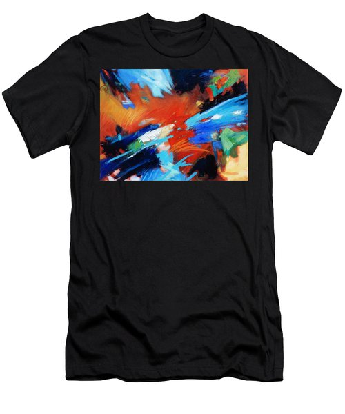 Men's T-Shirt (Slim Fit) featuring the painting Demo by Gary Coleman