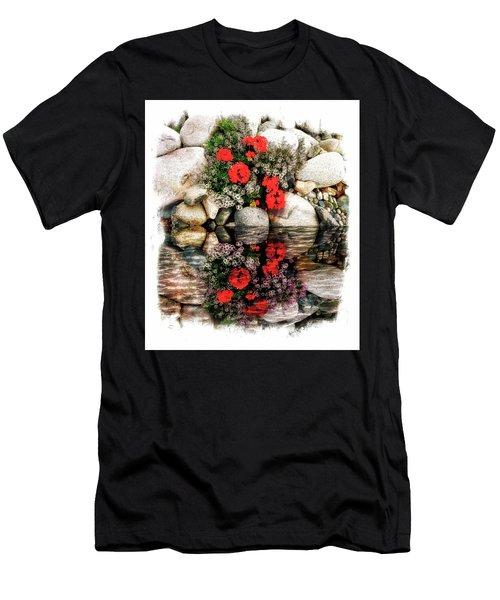 Denali National Park Flowers Men's T-Shirt (Athletic Fit)