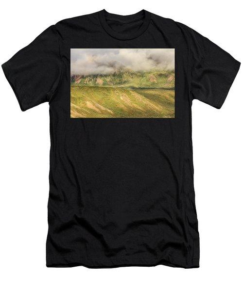 Denali National Park Mountain Under Clouds Men's T-Shirt (Athletic Fit)