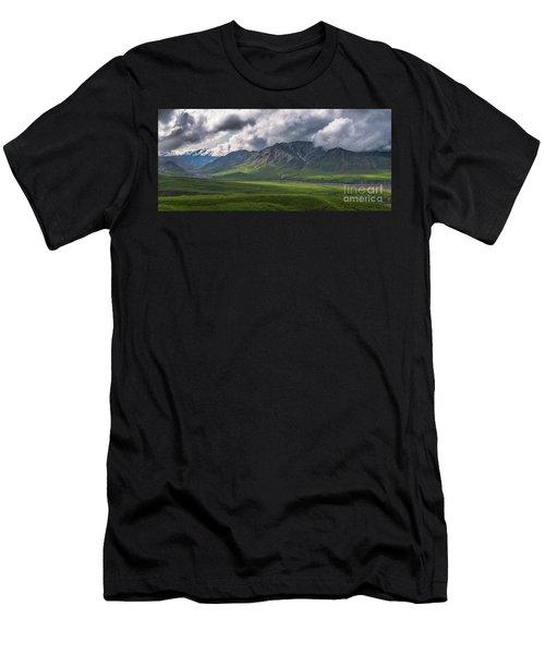 Denali National Park Panorama Men's T-Shirt (Athletic Fit)