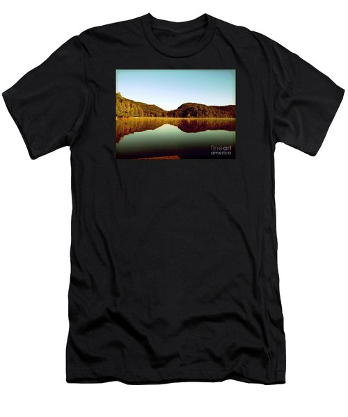 Men's T-Shirt (Slim Fit) featuring the photograph Denholm Lake by France Laliberte