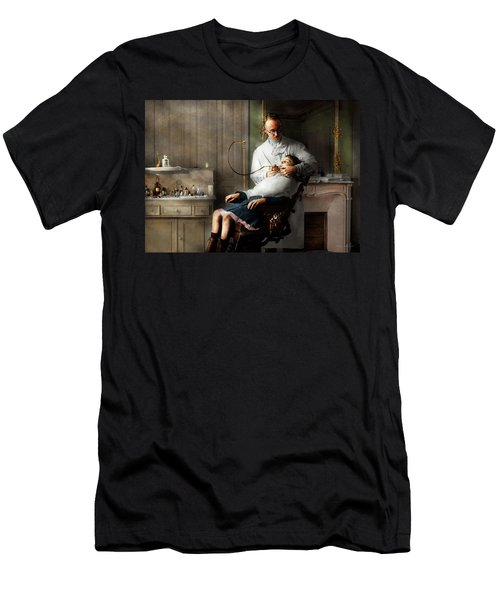 Men's T-Shirt (Athletic Fit) featuring the photograph Dentist - Good Oral Hygiene 1918  by Mike Savad