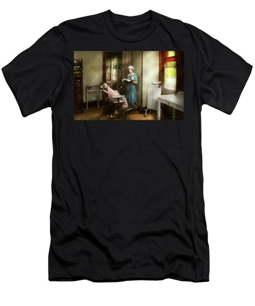 Men's T-Shirt (Athletic Fit) featuring the photograph Dentist - Patients Is A Virtue 1920 by Mike Savad