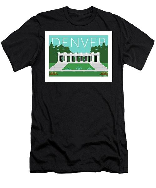 Denver Cheesman Park/lt Blue Men's T-Shirt (Athletic Fit)