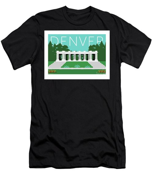 Denver Cheesman Park/lt Blue Men's T-Shirt (Athletic Fit)