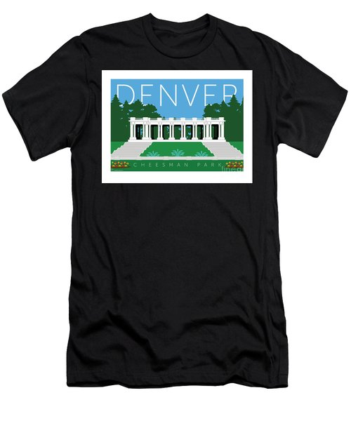 Men's T-Shirt (Athletic Fit) featuring the digital art Denver Cheesman Park by Sam Brennan