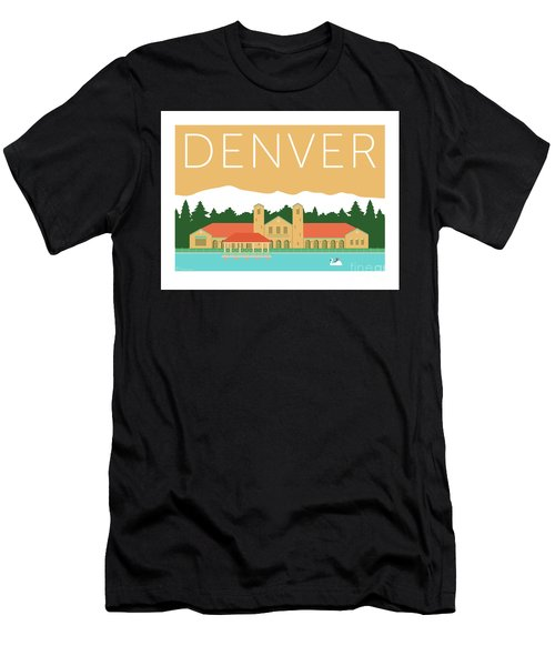 Men's T-Shirt (Athletic Fit) featuring the digital art Denver City Park/adobe by Sam Brennan