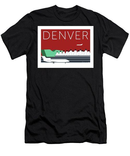 Denver Dia/maroon Men's T-Shirt (Athletic Fit)