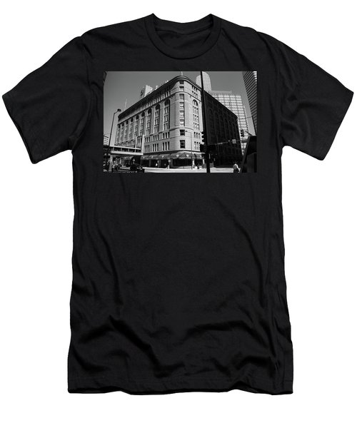 Denver Downtown Bw Men's T-Shirt (Slim Fit) by Frank Romeo