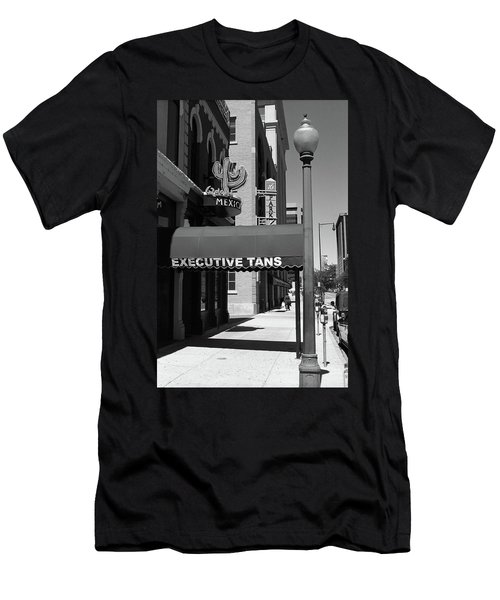 Denver Downtown Storefront Bw Men's T-Shirt (Slim Fit) by Frank Romeo